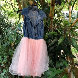 Jean and Tulle Dress Girls